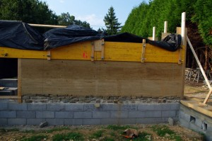 réalisation du mur en pise